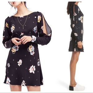 Free People Long Sleeve Floral Print Dress